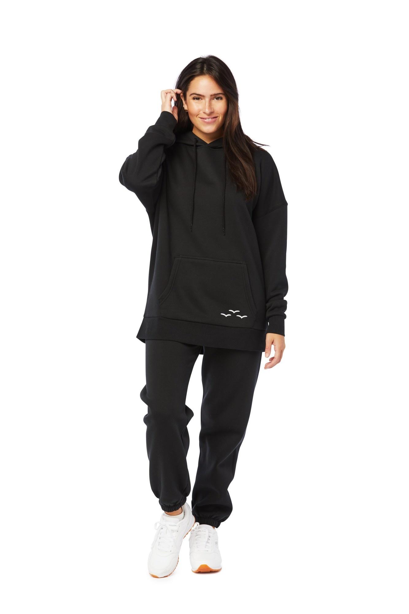 LAZYPANTS Niki & Cooper fleece set in black