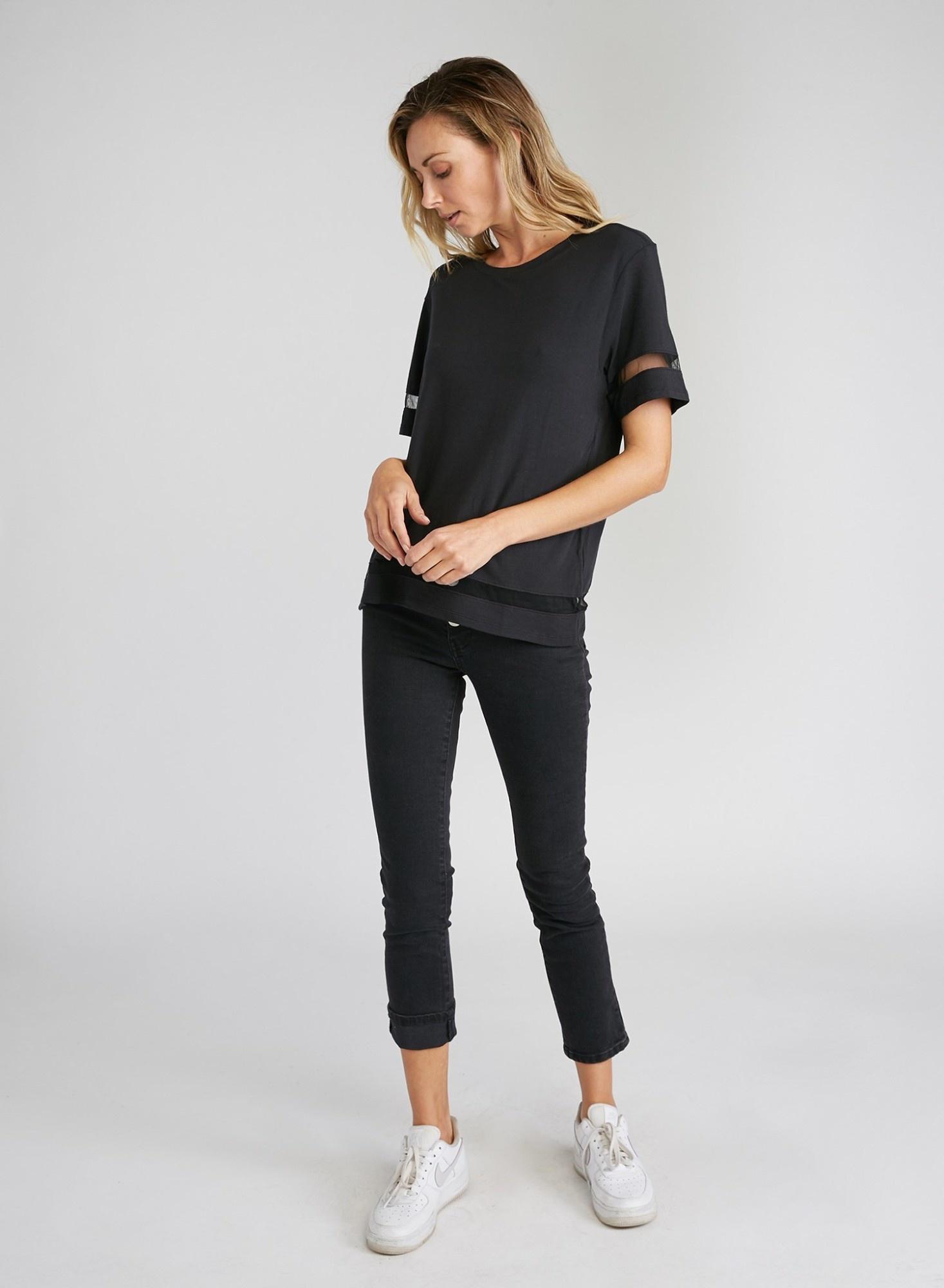CHRLDR TULLE INSERTS - Wide T-Shirt