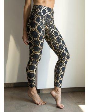CHRLDR Legging taille haute  imprimé Serpent or