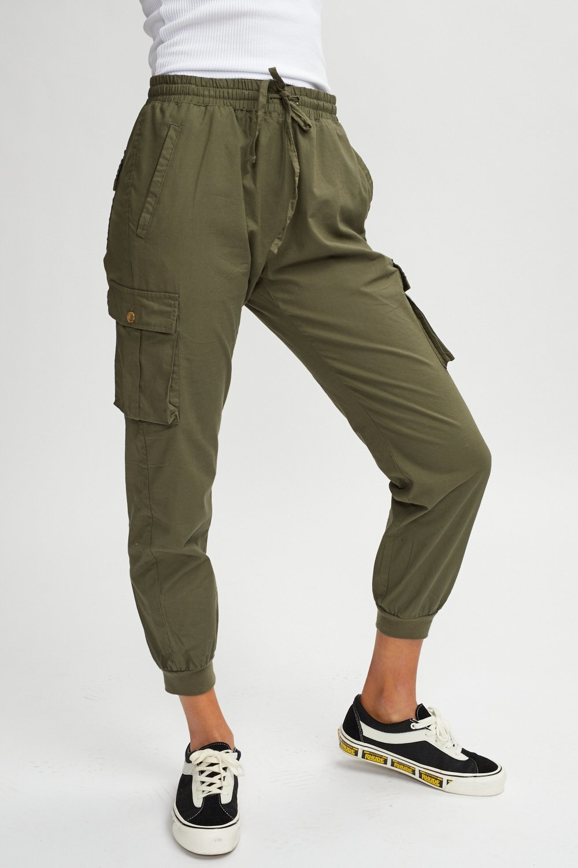 Kuwalla Tee Faux Linen Cargo Pants