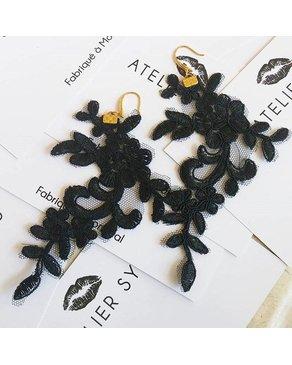 Atelier SYP GATSBY - Boucles d'Oreilles (Noir)
