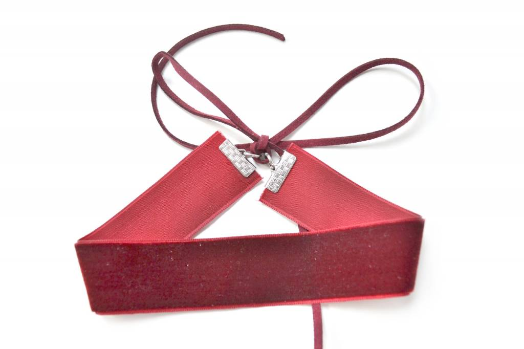Atelier SYP VINTAGE VELOURS - Choker (Red Wine)