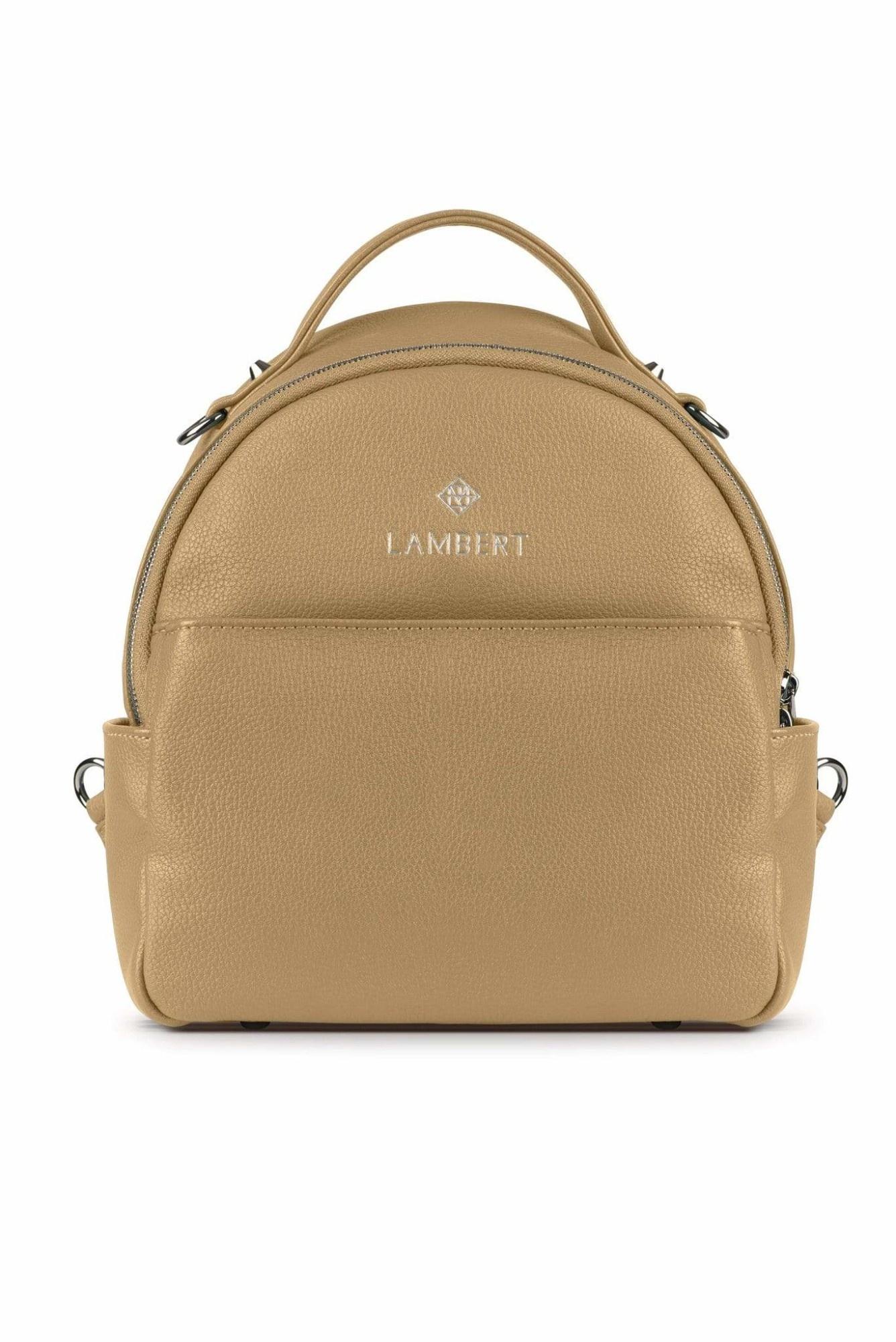 Lambert CHARLIE - Mini sac à dos en cuir vegan sand