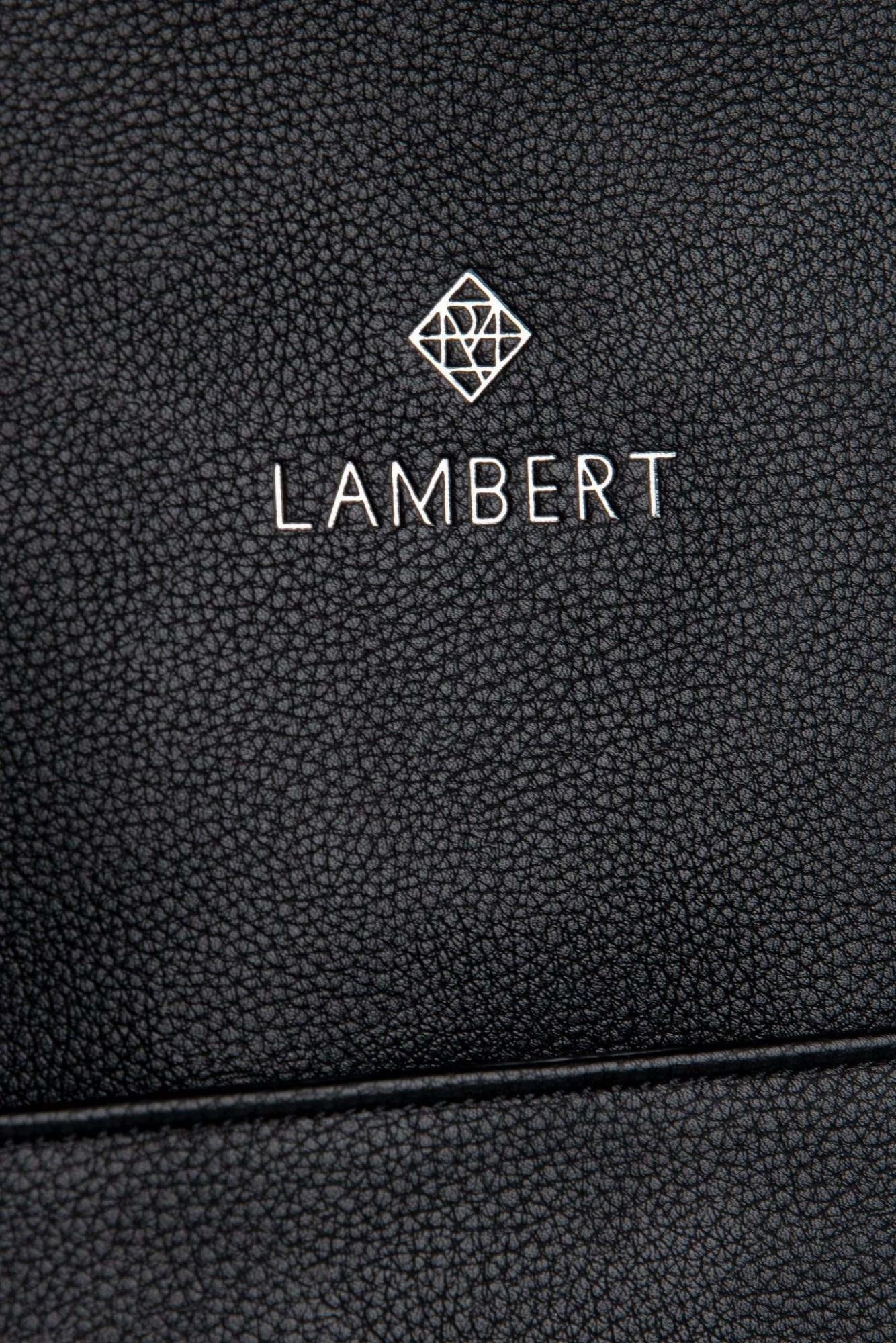 Lambert CHARLOTTE - Sac à dos en cuir vegan noir pour femme