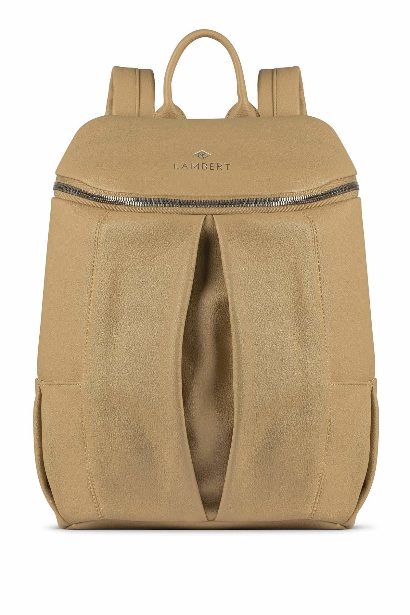 Lambert SARA - Sac à dos en cuir vegan sand pour femme