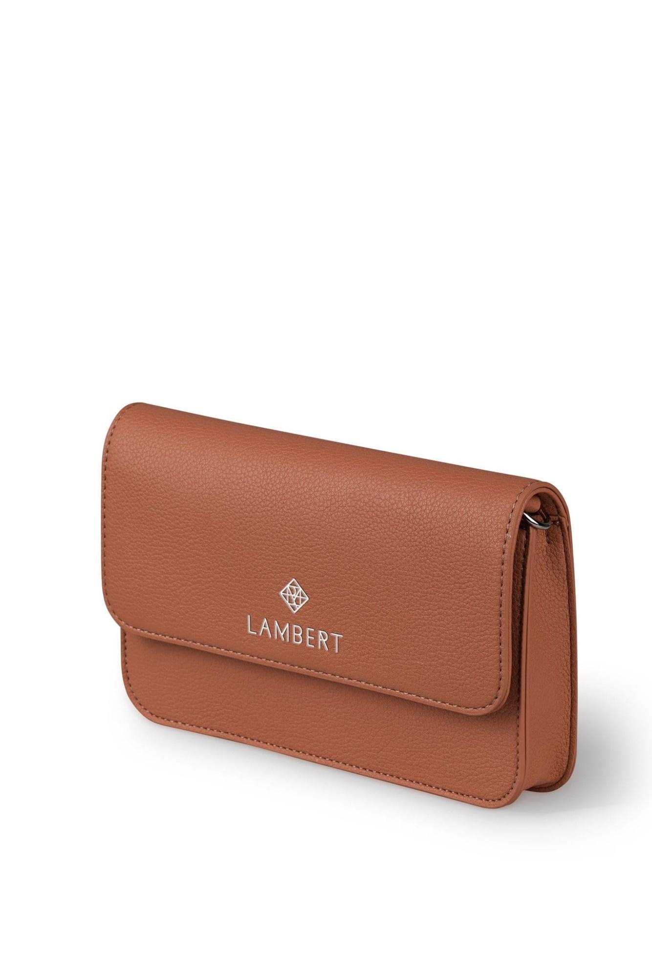 Lambert GABRIELLE - Sac 4-en-1 en cuir vegan tan pour femme
