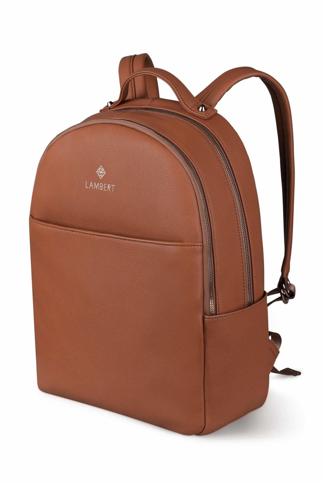 Lambert CHARLOTTE - Sac à dos en cuir vegan tan pour femme