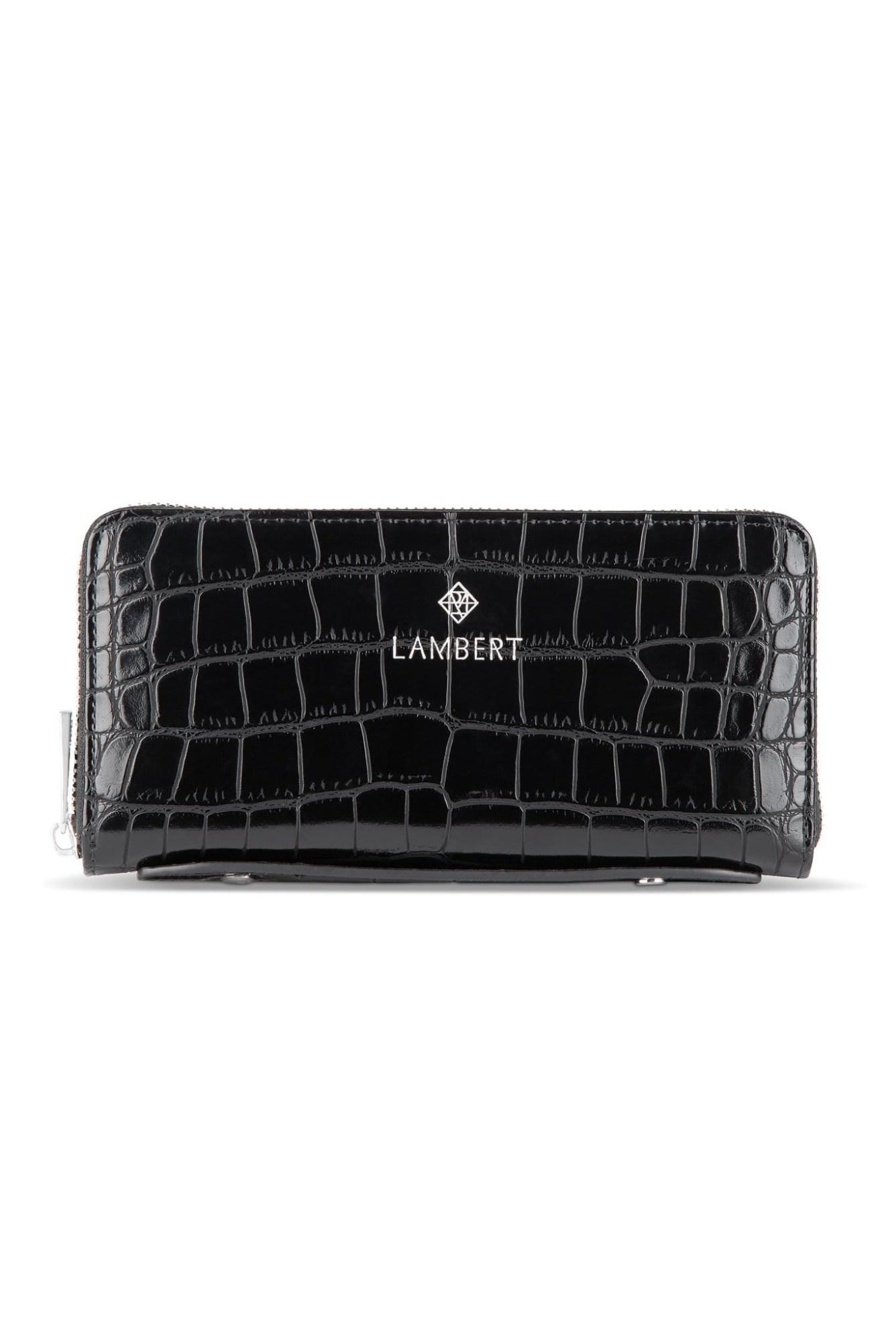 Lambert MELI - Portefeuille en cuir vegan croco