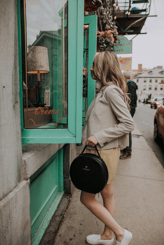 Lambert OLIVIA - Sac à dos en cuir vegan noir pour femme