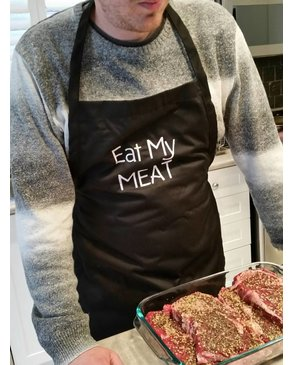 EAT MY MEAT - Apron (Black)