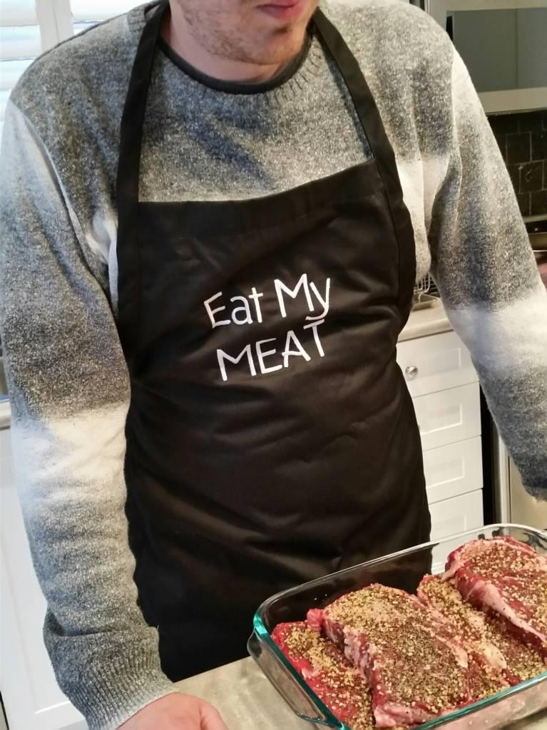 EAT MY MEAT - Tablier (Noir)