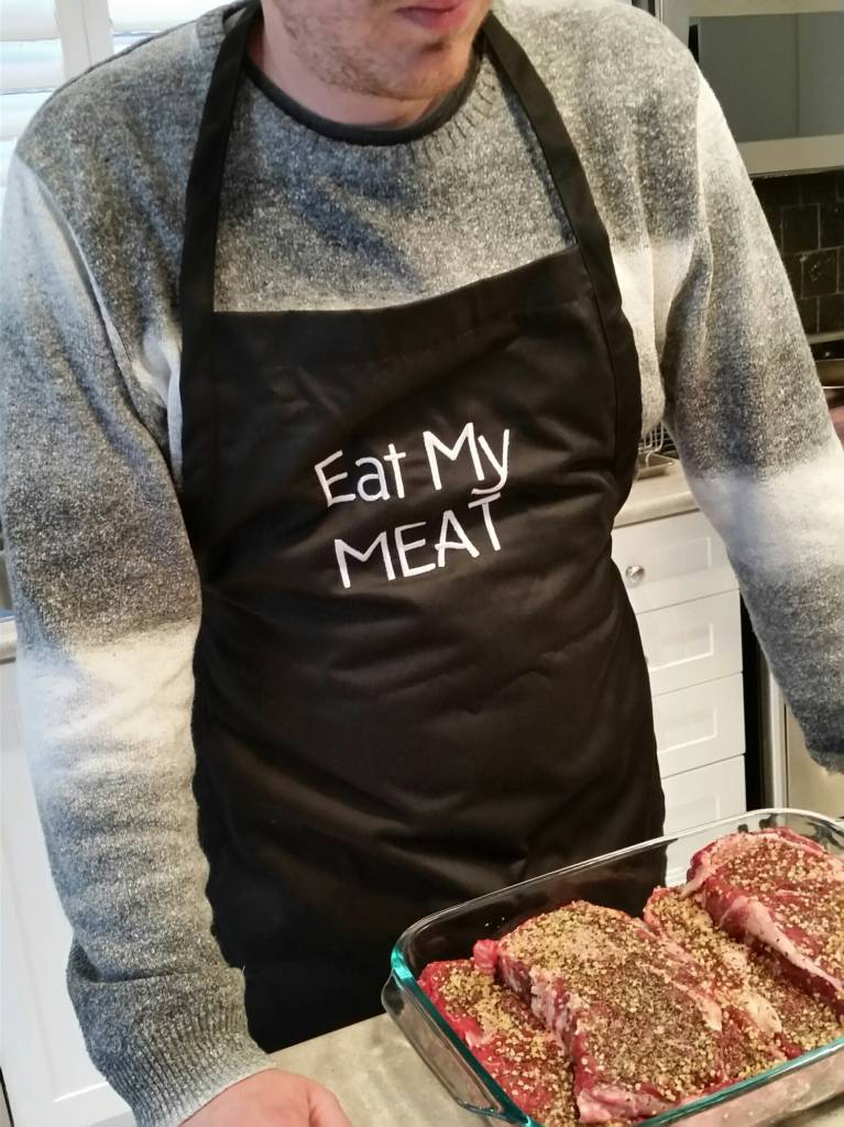 EAT MY MEAT - Apron (Black)