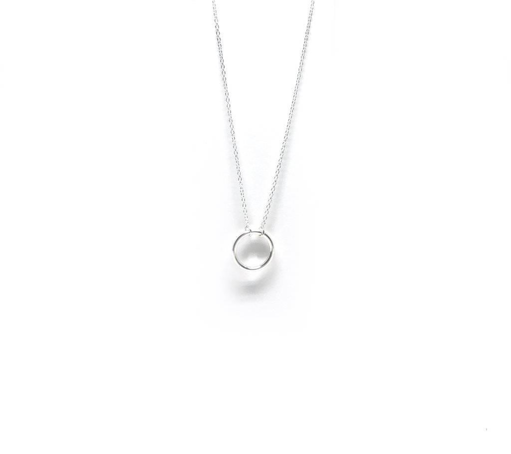 """Treasure Box The """"O"""" Necklace (Silver)"""