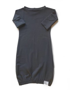 Kid's Stuff Newborn Gown | Dark Grey
