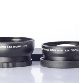 Bower .5x Wide Angle & 2x Telephoto Lens Adapter set