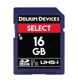 Delkin Delkin Devices Select 16GB UHS-I Class 10 U1 V10 SDHC 163x Memory Card *