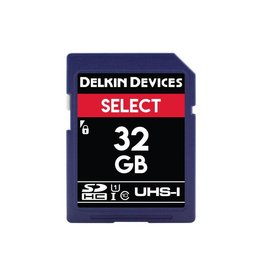 Delkin Delkin Devices Select 32GB UHS-I Class 10 U1 V10 SDHC 163x Memory Card *