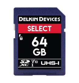 Delkin Delkin Devices Select 64GB UHS-I Class 10 U1 V10 SDXC 266x Memory Card *