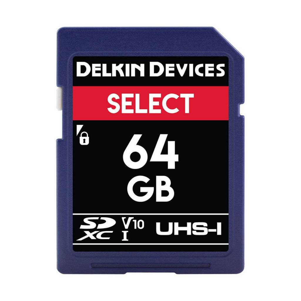 Delkin Delkin Devices Select 64GB UHS-I Class 10 U1 V10 SDXC 266x Memory Card