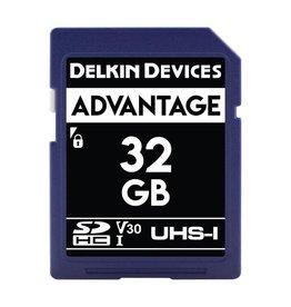 Delkin Delkin Devices Advantage 32GB UHS-I Class 10 U3 V30 SDHC 633x Memory Card *