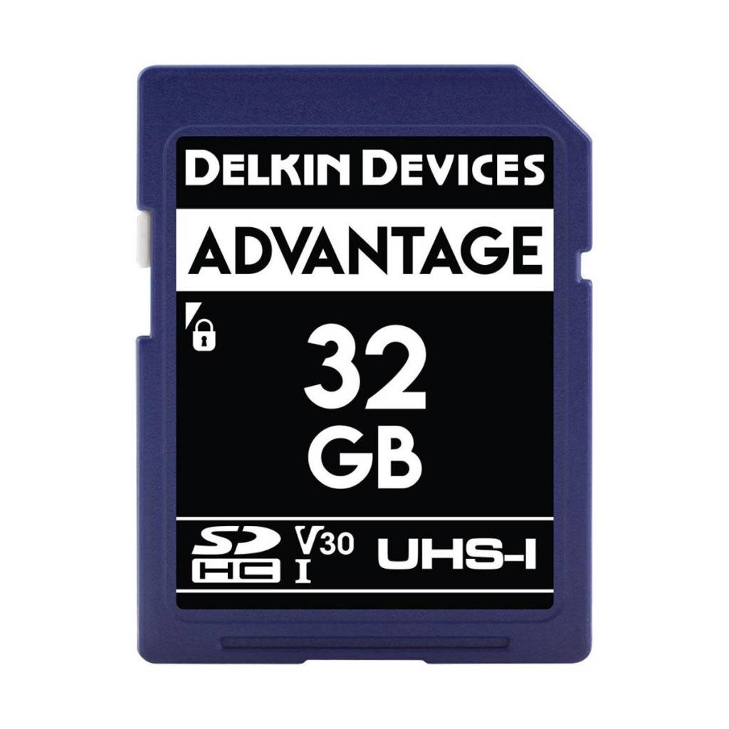 Delkin Delkin Devices Advantage 32GB UHS-I Class 10 U3 V30 SDHC 633x Memory Card