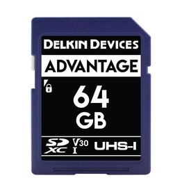 Delkin Delkin Devices Advantage 64GB UHS-I Class 10 U3 V30 SDXC 633x Memory Card *