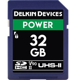 Delkin Delkin Devices Power 32GB UHS-2 Class 10 U3 V90 SDHC 2000x Memory Card *