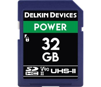 Delkin Devices Power 32GB UHS-2 Class 10 U3 V90 SDHC 2000x Memory Card *