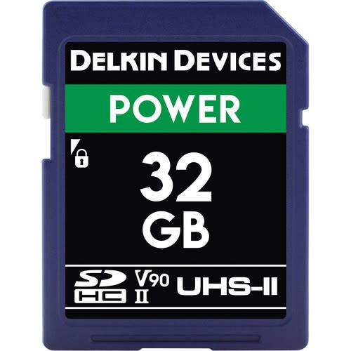 Delkin Delkin Devices Power 32GB UHS-2 Class 10 U3 V90 SDHC 2000x Memory Card