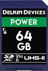 Delkin Delkin Devices Power 64GB UHS-2 Class 10 U3 V90 SDXC 2000x Memory Card