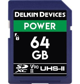 Delkin Delkin Devices Power 64GB UHS-2 Class 10 U3 V90 SDXC 2000x Memory Card *