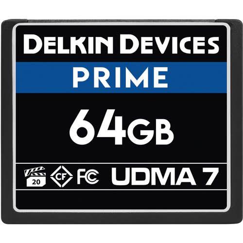 Delkin Delkin Devices 64GB Prime UDMA 7 CompactFlash Memory Card