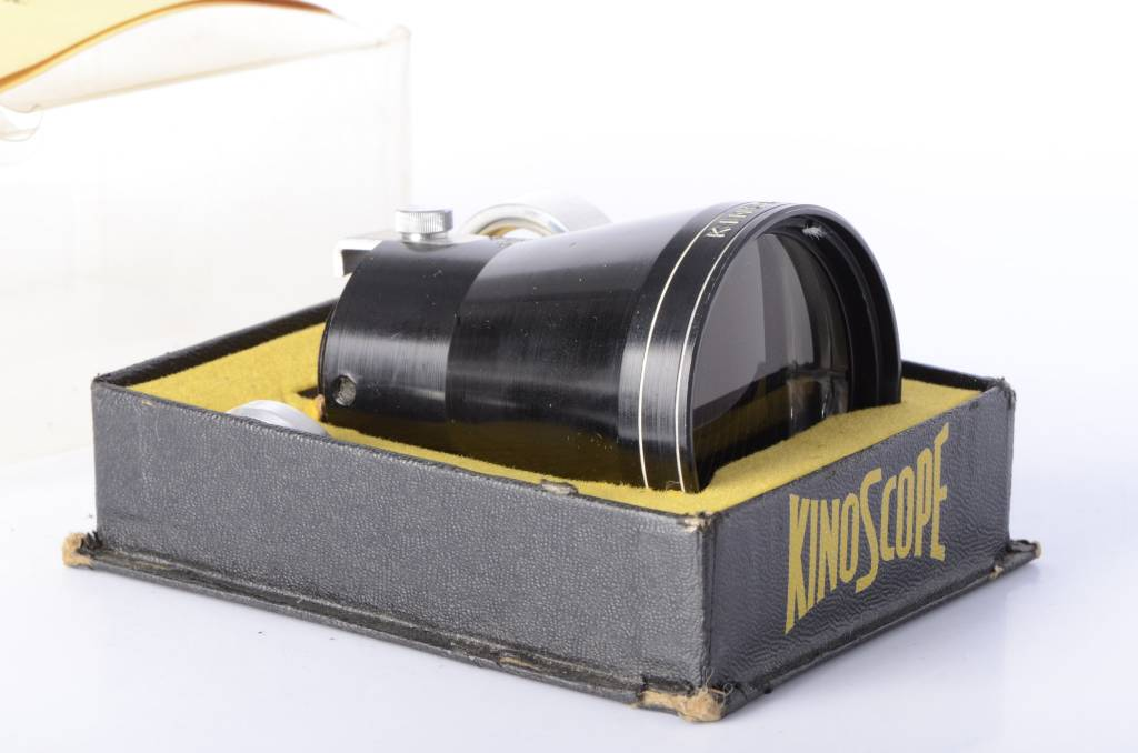 KinoScope lens in box with adapters