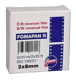Foma Foma Fomapan R100 Black and White Reversal Film 2x8mm - Double 8 Standard 10 meters
