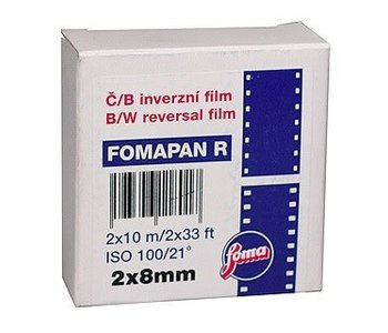 Foma Fomapan R100 Black and White Reversal Film 2x8mm - Double 8 Standard 10 meters
