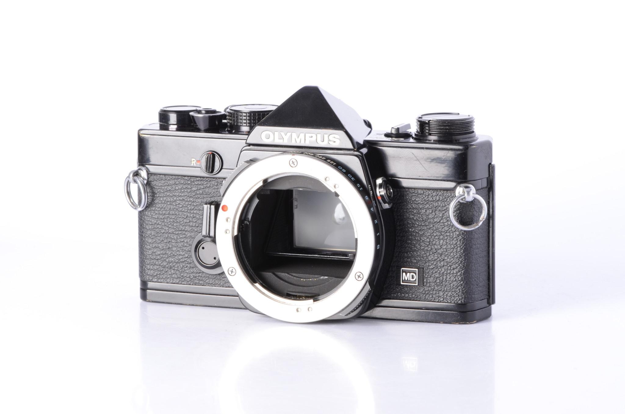 Olympus Olympus OM1n MD Black 35mm Film Camera Body *