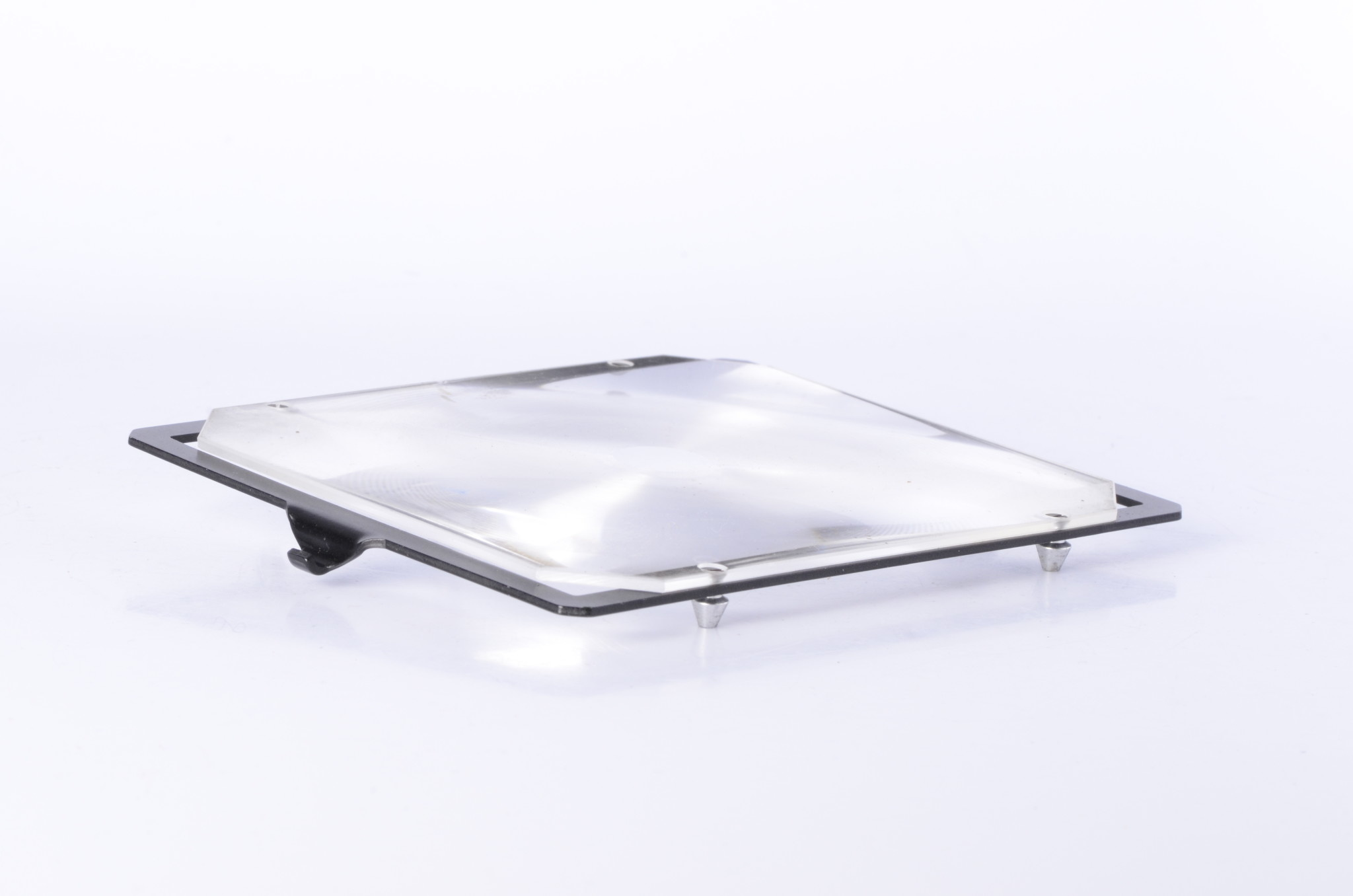"""4x5"""" Ground Glass Magnifier in Metal Frame *"""