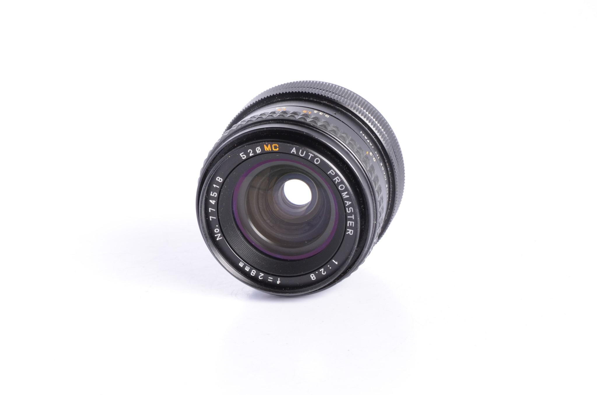 Promaster Promaster 28mm f/2.8 Lens SN: 774518 *