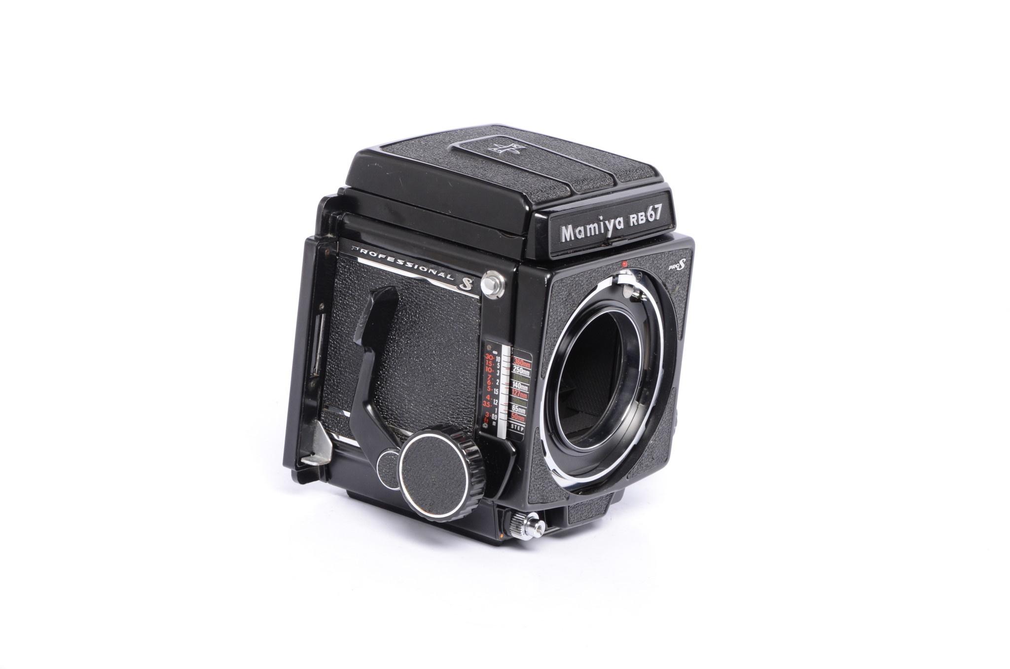 Mamiya Mamiya RB67 Pro S w/ WL Waist Level Finder and P Adapter SN: C227867 *