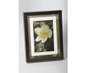 Encore CROSS BRUSHED PEWTER BEVEL Frame for 5x7 or 4x6