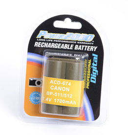 Power2000 Replacement for Canon BP511 Battery
