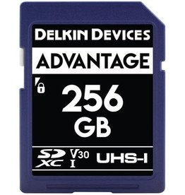 Delkin Delkin Devices Advantage 256GB UHS-I Class 10 U3 V30 SDXC 633x Memory Card