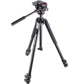 Manfrotto Manfrotto 190X ALUMINUM 3 Section Fluid Head MHXPRO2W Kit Tripod