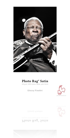 "Hahnemuhle Hahnemuhle Satin Photo Rag, 310 gsm, 100 % Rag, Fine Lustre Bright White Inkjet Paper, 13x19"", 25 Sheets"