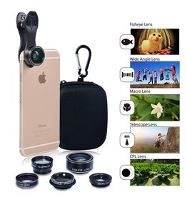 Apexel Apexel Cell phone lens 5 in 1 HD Camera Kit