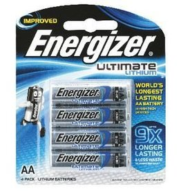 Energizer Energizer Ultimate  AA Battery Lithium AA 4PK