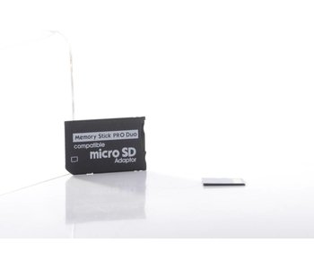 Memory Stick Pro Duo to Micro SD Adapter