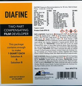 omega Acufine Diafine Film Developer Concentrate, Makes 1 Qt