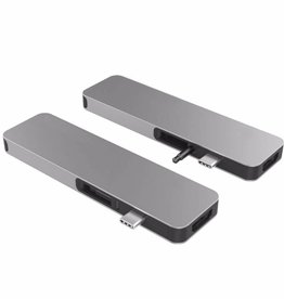 Sanho Hyperdrive Solo 7-in-1 USB-C Hub for Macbook PC & Devices - Silver