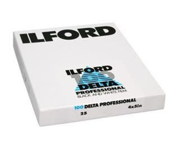 "Ilford Delta 100 ASA 4x5"" Sheet Film"